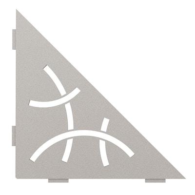 Shelf-E Greige Coated Aluminum Curve Triangular Corner Shelf
