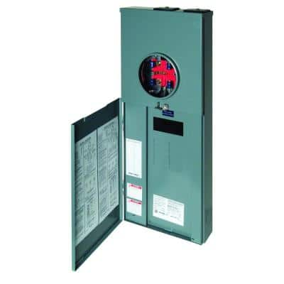 Homeline 200 Amp 8-Space 16-Circuit Outdoor Ringless-Horn Overhead/Underground Main Breaker CSED Single Main Disconnect