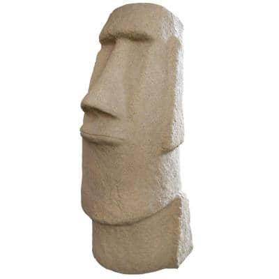 Easter Island Sandstone Resin Head Statue