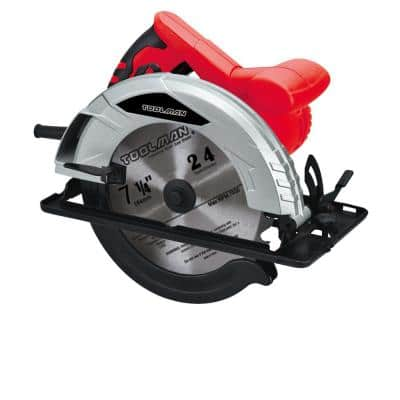 12 Amp Corded 7-1/4 in.Circular Saw with Wide Cutting Range and Blade Guard