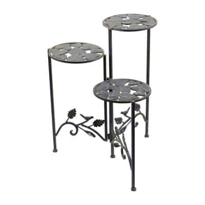 23 in. 3-Tier Iron Planter Stand