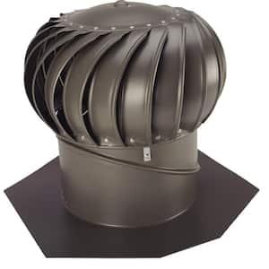 12 in. Weathered Bronze Aluminum Internally Braced Whirlybird Wind Turbine