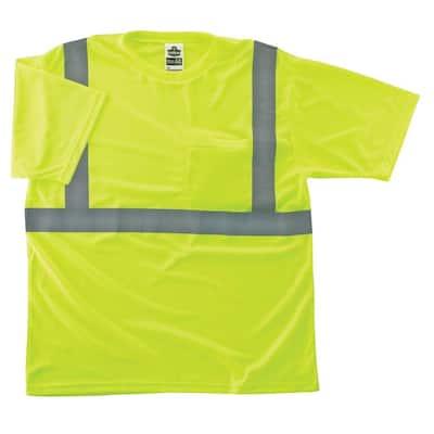 GloWear 8289 X-Large Hi Vis Lime Type R Class 2 T-Shirt