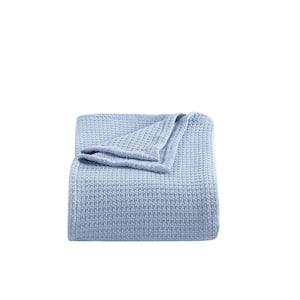 Bahama Coast Hypoallergenic 1-Piece Blue Cotton King Blanket