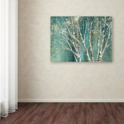 """35 in. x 47 in. """"Blue Birch"""" by Julia Purinton Printed Canvas Wall Art"""