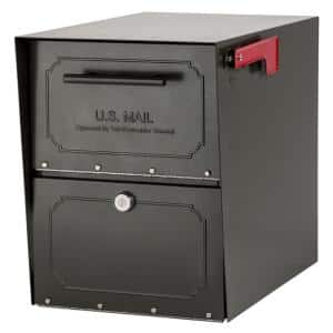 Oasis Classic Locking Post Mount Parcel Mailbox with High Security Reinforced Lock