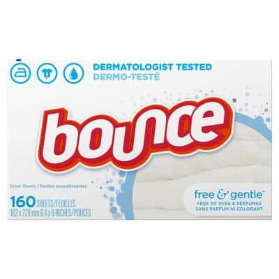 Free and Gentle Unscented Dryer Sheets (160-Count)