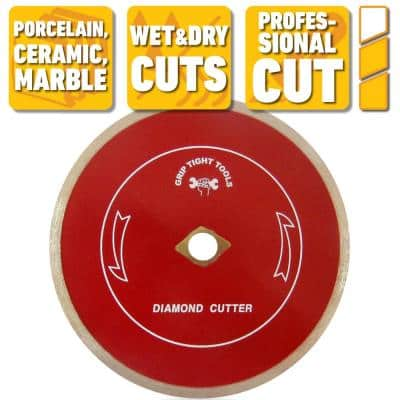 7 in. Professional Continuous Rim Tile Cutting Diamond Blade for Cutting Porcelain, Ceramic and Marble (3-Pack)