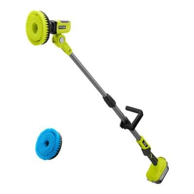 ONE+ 18V Telescoping Power Scrubber with 6 in. Soft Bristle Brush Accessory
