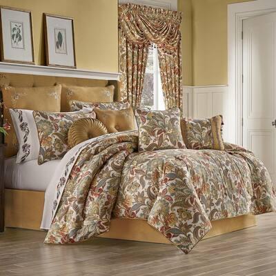 August 4-Piece Multi Cotton King Comforter Set