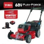 Recycler 22 in. SmartStow 60-Volt Max Lithium-Ion Cordless Battery Walk Behind Mower, 6.0 Ah Battery/Charger Included