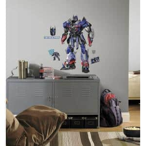 5 in. x 19 in. Transformers Age of Extinction Optimus Prime Peel and Stick Giant Wall Decal