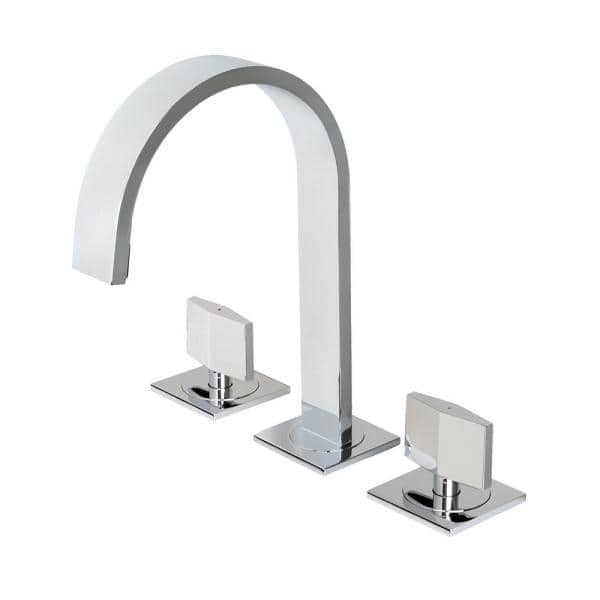 Luxier Widespread 2 Handle Contemporary Bathroom Vanity Sink Lavatory Faucet Cupc Nsf Ab 1953 Lead Free In Chrome Wsp05 Tc The Home Depot