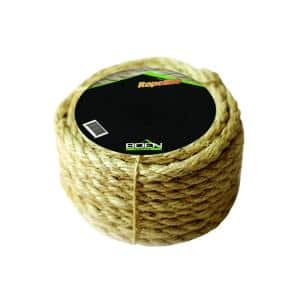 3/8 in. x 50 ft. 3-Strand Twisted Sisal Rope