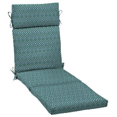 Arden Selections 21 in. x 72 in. Alana Tile Outdoor Chaise Lounge Cushion