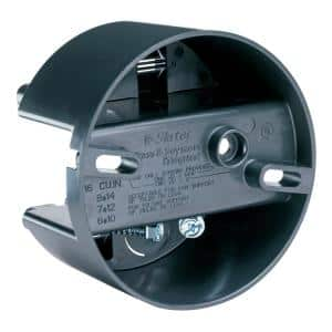 Pass & Seymour Slater New Work Plastic 4 In. Round 16 Cu. In. Direct Mount Fixture & Fan Ceiling Box