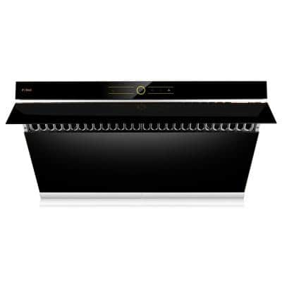 Slant Vent Series 36 in. 850 CFM Side Draft Air Extraction Under Cabinet or Wall Mount Range Hood in Onyx Black