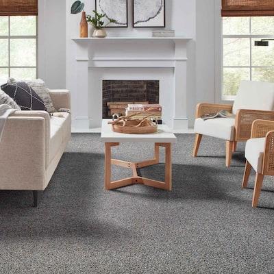 Playful Moments I - Color Cape Cod Texture Blue Carpet