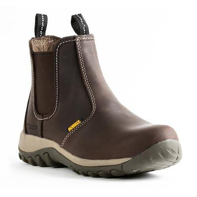 Men's Level 6 in. Work Boots - Steel Toe - Brown (9)M