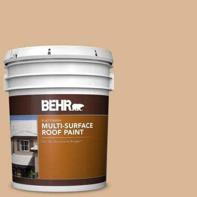 5 gal. #RP-17 Sundance Flat Multi-Surface Exterior Roof Paint