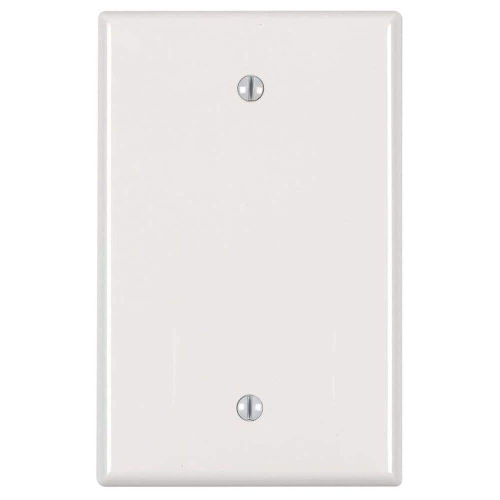 Leviton 1 Gang Midway Blank Nylon Wall Plate White R52 0pj13 00w The Home Depot