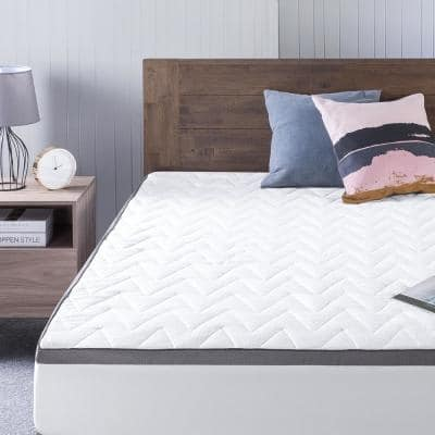 Luxury TorsoTec Twin Memory Foam Mattress Topper with Removable Cover
