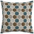 Charleston Hex Square Outdoor Throw Pillow (2-Pack)
