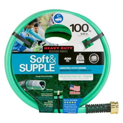 5/8 in. Dia x 100 ft. Soft and Supple Heavy Duty Water Hose