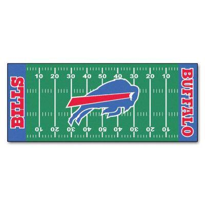 Buffalo Bills 3 ft. x 6 ft. Football Field Rug Runner Rug