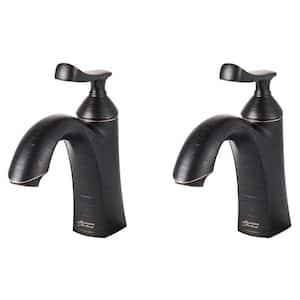 Chatfield Single Hole Single-Handle Bathroom Faucet (Set of 2) in Legacy Bronze