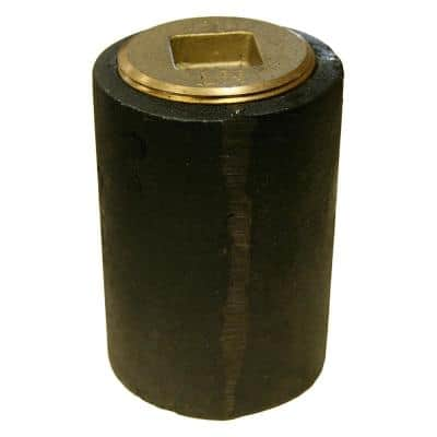 4 in. Plain End Cast Iron Cleanout Short Pattern with 3 in. Countersunk (Low Square) Southern Code Plug for DWV
