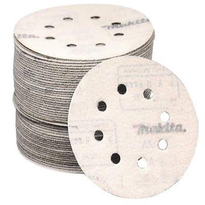 5 in. 40-Grit Hook and Loop Round Abrasive Disc (50-Pack) for Orbital Sander