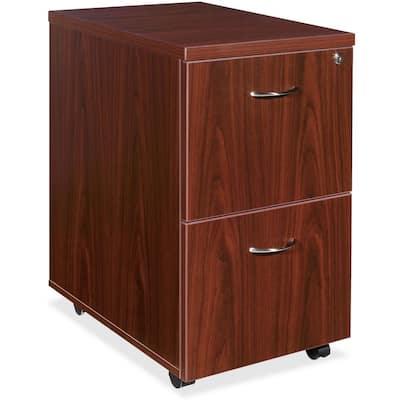 Essential Mahogany Mobile Pedestal File Cabinet