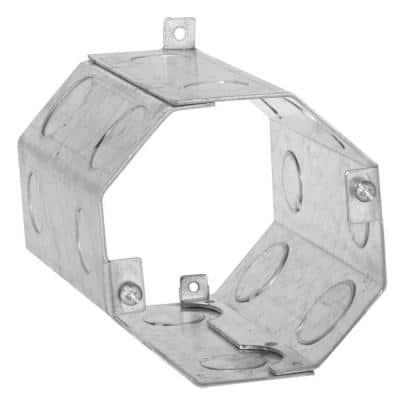 4 in. Octagon Welded Concrete Ring, 5 in. Deep with 1/2 and 3/4 in. Knockouts (10-Pack)