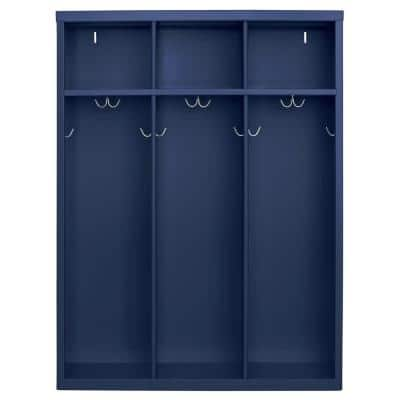 1-Shelf Steel Open Front Kids Locker in Navy Blue