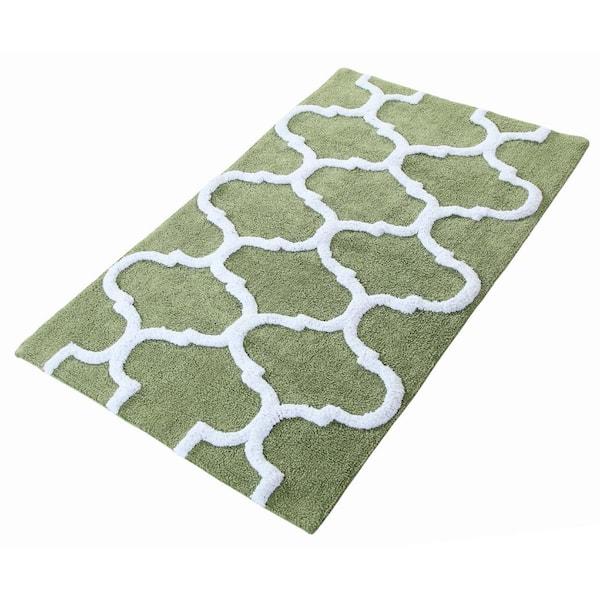Latex Spray Non Skid Backing Sage Green, Green Bathroom Rug