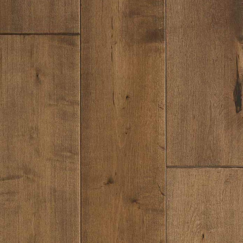 Malibu Wide Plank Maple Cardiff 3 8 In T X 6 1 2 In W X Varying Length Click Lock Engineered Hardwood Flooring 945 6 Sq Ft Pallet Hdmpcl206efp The Home Depot