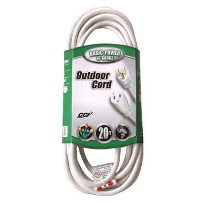 20 ft. 16/3 SJTW Outdoor Light-Duty Extension Cord