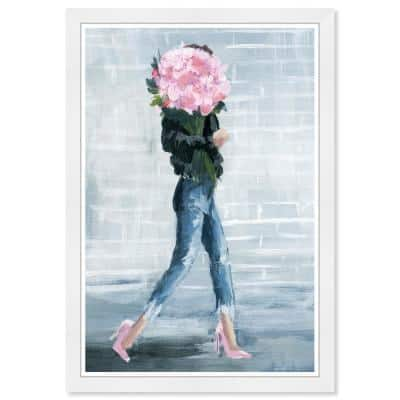 """Fashion and Glam """"Walk This City"""" Framed Art Print 19 in. x 13 in."""