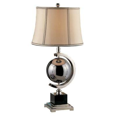 Blackened Chrome Sphere 29 in. Table Lamp