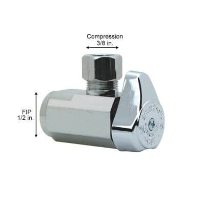 1/2 in. FIP Inlet x 3/8 in. Compression Outlet 1/4-Turn Angle Valve