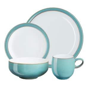 Azure 4-Piece Turquoise Dinnerware Set