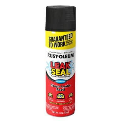 15 oz. LeakSeal Black Flexible Rubber Coating Spray Paint (6-Pack)