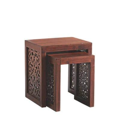 Maharaja Walnut 2-Piece Nesting End Table