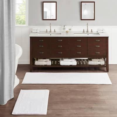 Splendor White 21 in. x 34 in. 100% Cotton Tufted 3000 GSM Reversible Bath Rug