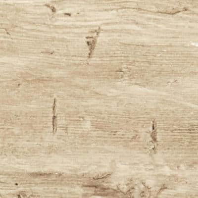 SAMPLE - 1 in. x 6 in. x 6 in. Natural Pine Urethane Hand Hewn Faux Wood Material Moulding