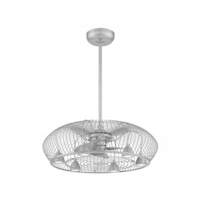Earhart Collection 29 in. LED Indoor Platinum Ceiling Fan with Remote Control