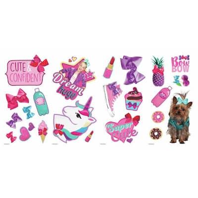 JoJo Siwa Pink Peel and Stick Wall Decal (Set of 23)
