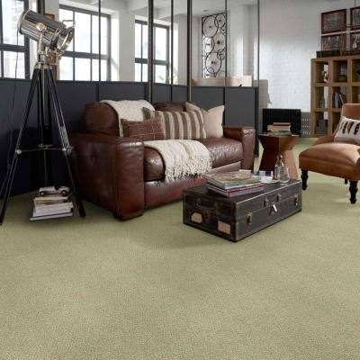 Fallbrook - Color Willow Winds Indoor/Outdoor Berber Green Carpet