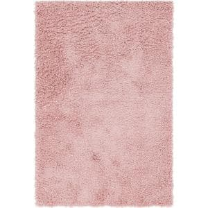 Davos Shag Dusty Rose Pink 4 ft. x 6 ft. Area Rug